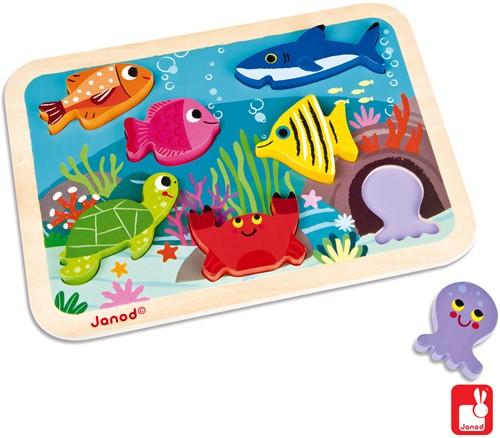 Janod Chunky puzzel - Onderwaterwereld
