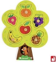 Janod  houten vormenpuzzel Fruitboom-2