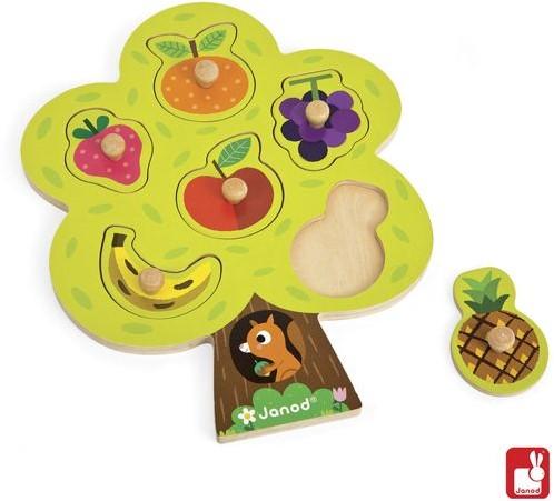 Janod  houten vormenpuzzel Fruitboom-1