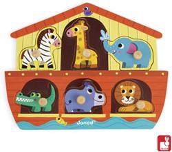 Janod  houten vormenpuzzel Noachs ark