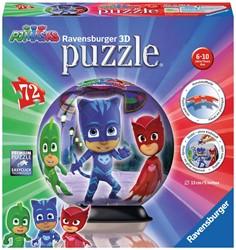 Ravensburger puzzleball PJ Masks Donker - 3D Puzzel - 72 stukjes