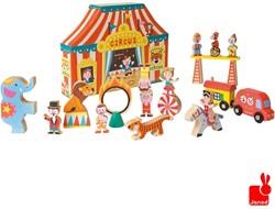 Janod  Story houten trein set Box het circus 19-delig