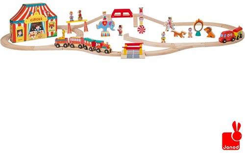 Janod  Story houten trein set Express het circus + rails-1
