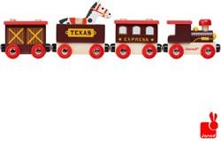 Janod  Story houten trein Wilde westen