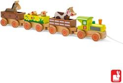 Janod Story - trekfiguur trein boerderij