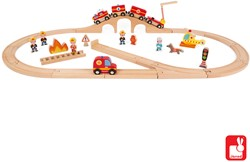 Janod Story Express - brandweer met rails