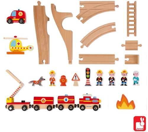 Janod Story Express - brandweer met rails-3