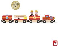 Janod Story houten trein Brandweer-2