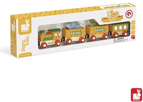 Janod  Story houten trein Safari-2