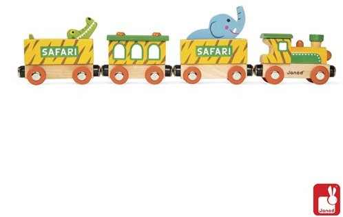 Janod  Story houten trein Safari-1