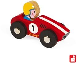 Janod Story Racing - racer (3 rood en 3 geel)