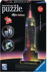 Ravensburger Empire State Building Night Edition - 3D puzzel gebouw - 216 stukjes