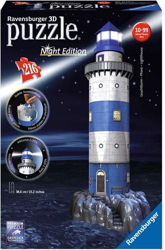 Ravensburger 3D puzzel gebouw Vuurtoren Night Edition  - 216 stukjes