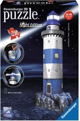 Ravensburger Vuurtoren Night Edition - 3D puzzel gebouw - 216 stukjes