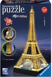 Ravensburger Eiffeltoren Night Edition - 3D puzzel gebouw - 216 stukjes