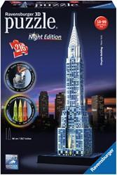 Ravensburger Chrysler Building Night Edition - 3D puzzel gebouw - 216 stukjes