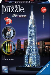 Ravensburger Chrysler Building Night Edition - 3D puzzel gebouw - 216 stukjes