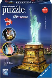 Ravensburger Statue of Liberty Night Edition - 3D puzzel gebouw - 108 stukjes