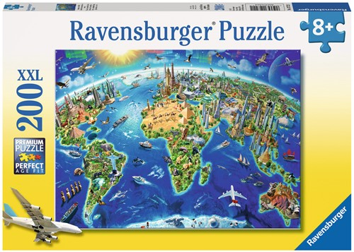 Ravensburger puzzel De wereld in symbolen - legpuzzel - 200 stukjes