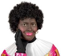 Planet Happy  verkleedspullen Zwarte Pieten pruik