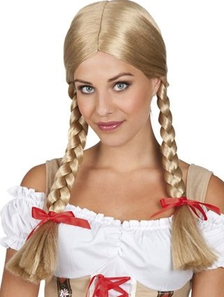Planet Happy  verkleedspullen Pruik Heidi Blond
