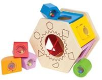 Hape houten leerspel Sorteer kist-1