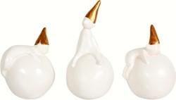 Maileg 3 Snowball Pixis, Porcelain, Set