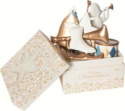 Maileg 6 Gold/white Ornaments in box