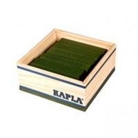 Kapla  houten bouwplankjes 40 donkergroen in kistje-3
