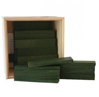 Kapla  houten bouwplankjes 40 donkergroen in kistje-2