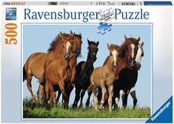 Ravensburger puzzel Kudde paarden - Legpuzzel - 500 stukjes