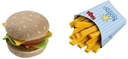 Haba Biofino keuken accessoires Hamburger met frietjes 1475