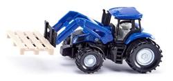 Siku Traktor met palletsteker en pallet 1487