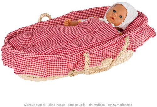 Goki Doll's carry cradle including lining,mattress,pillow,quilt