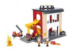 Brio  houten trein gebouw Rescue Fire Station