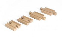 Brio  houten treinrails Mini Straight Track pack 33393