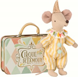 Maileg Clown in suitcase, Mouse