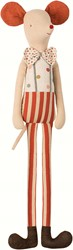 Maileg Circus stilt clown, Maxi mouse