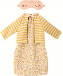 Maileg Best Friend, Night dress w. cardigan - Yellow