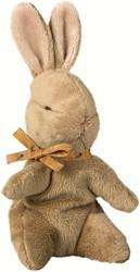 Maileg Baby Bunny, Brown w. ocher ribbon