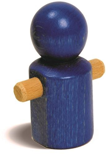 nic houten speelgoed MB Laufmännchen blau
