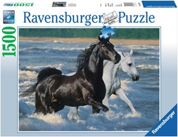 Ravensburger puzzel Paarden op het strand - Legpuzzel - 1500 stukjes
