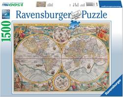 Ravensburger puzzel Wereldkaart 1594 - Legpuzzel - 1500 stukjes