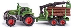 Siku Tractor met houttransport-aanhanger 1645
