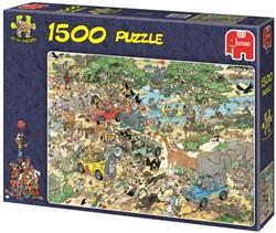 Jumbo Jan van Haasteren puzzel Safari - 1500 stukjes