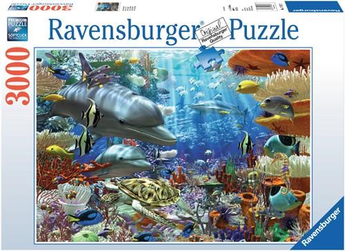 Ravensburger puzzel Leven onder water - Legpuzzel - 3000 stukjes