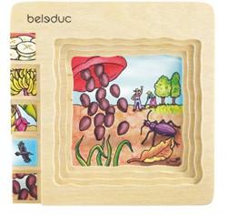 Beleduc  houten lagenpuzzel Banaan