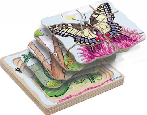Beleduc  houten lagenpuzzel Vlinder-1