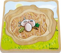 Beleduc  houten lagenpuzzel Eend-1