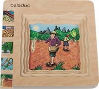Beleduc  houten lagenpuzzel Rijst-1